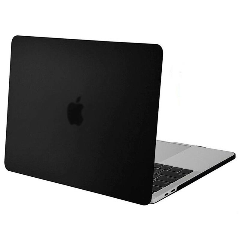 """Чехол-накладка пластик матовый для MacBook Pro 15"""" прозрачно-черный"""