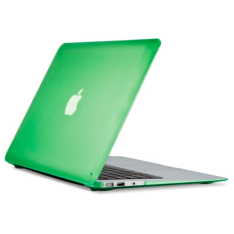 """Чехол-накладка пластик матовый для MacBook Air 13"""" прозрачно-зеленый"""