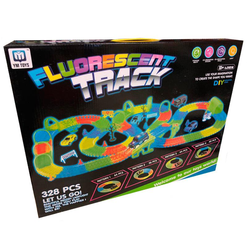 """Набор гоночный """"Fluorescent Track"""" (328 деталей)"""