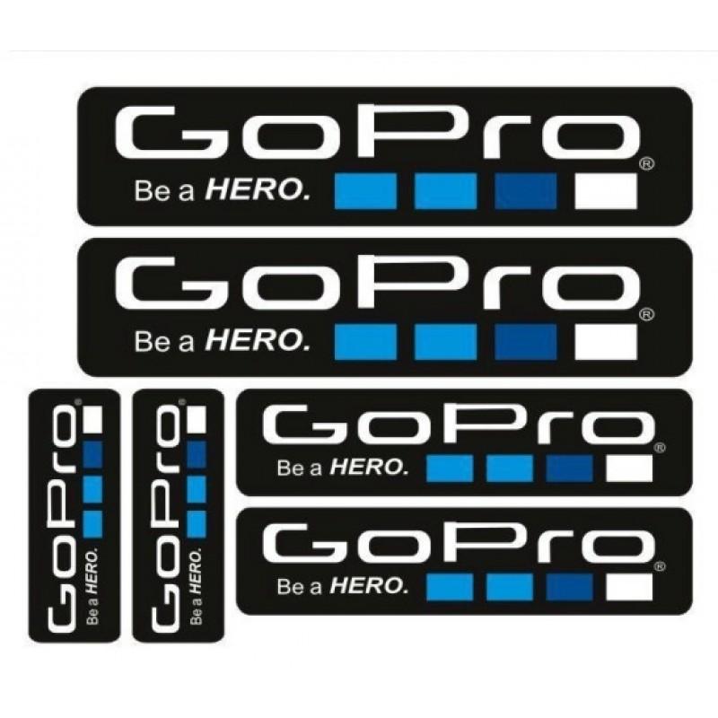 Набор стикеров с логотипом GoPro 6 штук