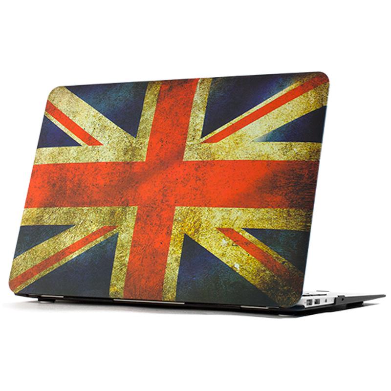 """Чехол-накладка пластиковый для MacBook Air 13"""" Британский флаг"""