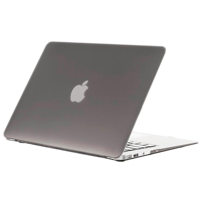 """Чехол-накладка пластик глянцевый для MacBook Air 13"""" прозрачно-серый"""