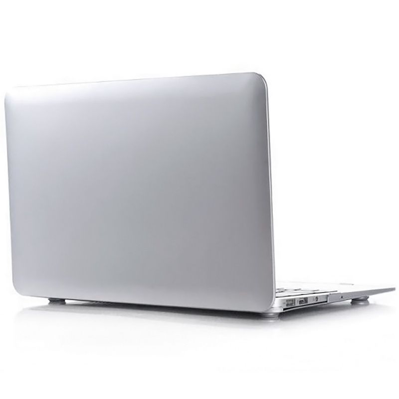"""Чехол-накладка металлик пластиковый для MacBook Air 13"""" серебристый"""