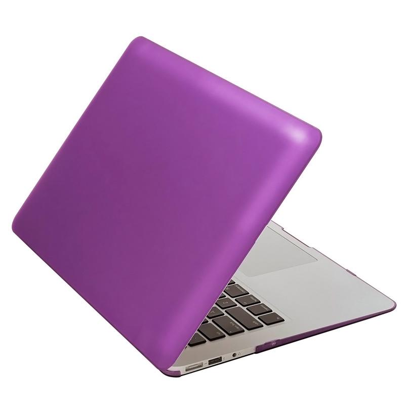 """Чехол-накладка металлик пластиковый для MacBook Air 13"""" фиолетовый"""