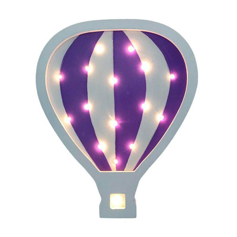 Детский ночник Purple Hot Air Balloon Воздушный шар, фиолетовый