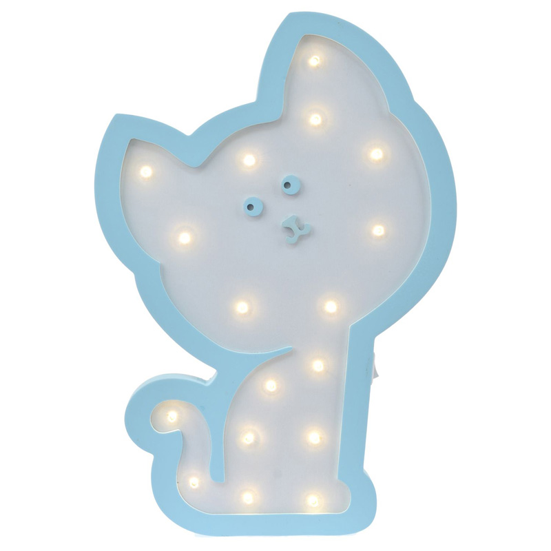 Детский ночник Blue Cat Кот, голубой