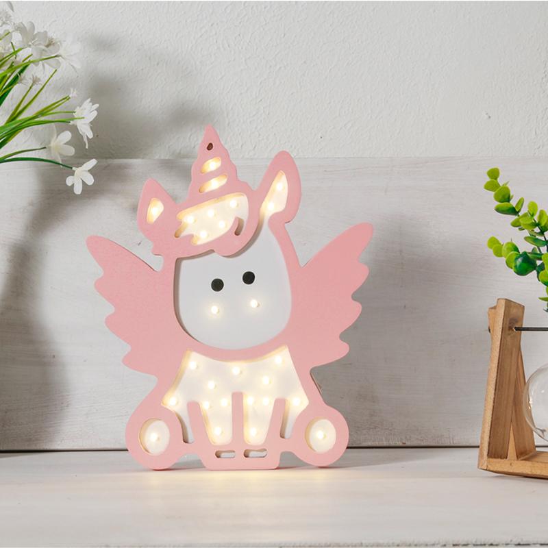 Детский ночник Pink Angle Единорог, розовый