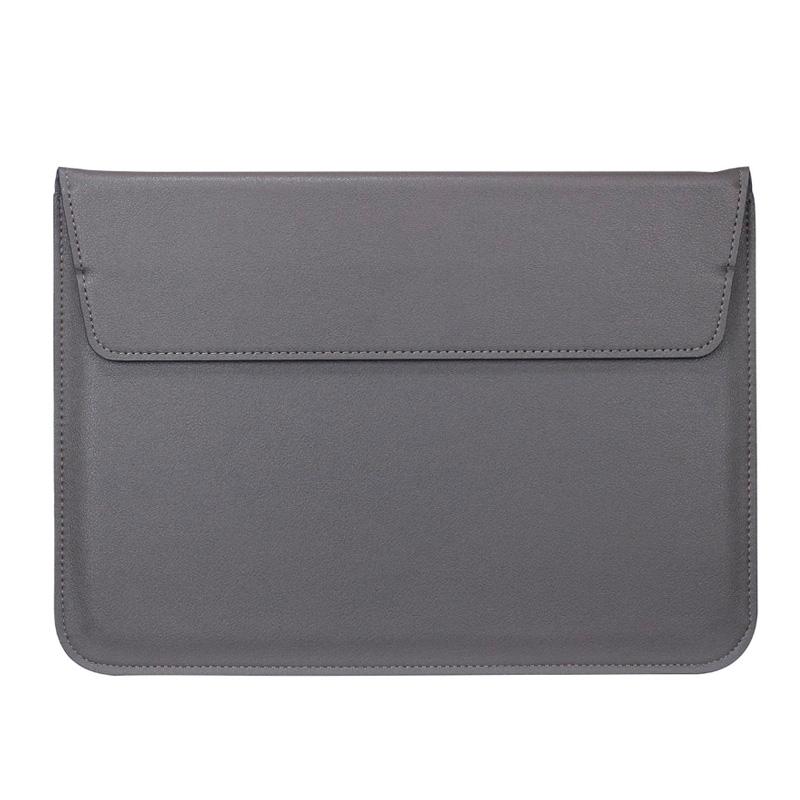 """Чехол-конверт кожаный для ноутбука 13"""", серый"""