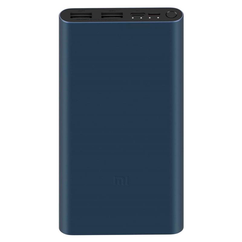 Внешний аккумулятор Xiaomi Power Bank 3 10000 mAh 2xUSB, тёмно-синий