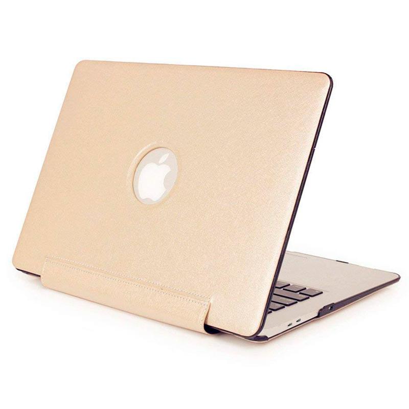 "Чехол-книжка кожа-пластик для MacBook Pro 13"" бежевый"