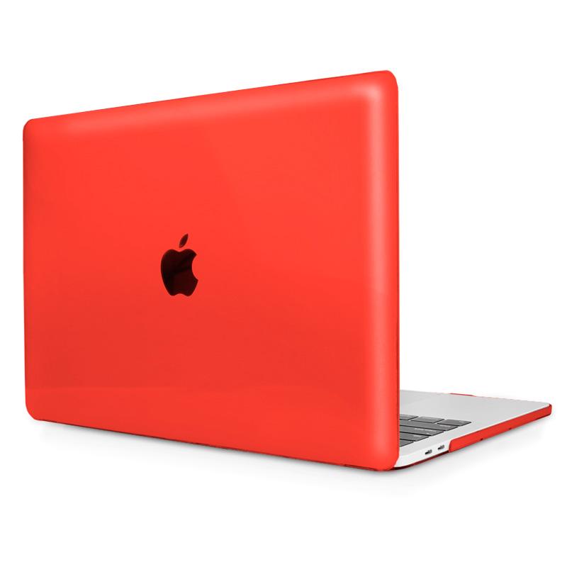 """Чехол-накладка пластик глянцевый для MacBook Pro 13"""" прозрачно-красный"""