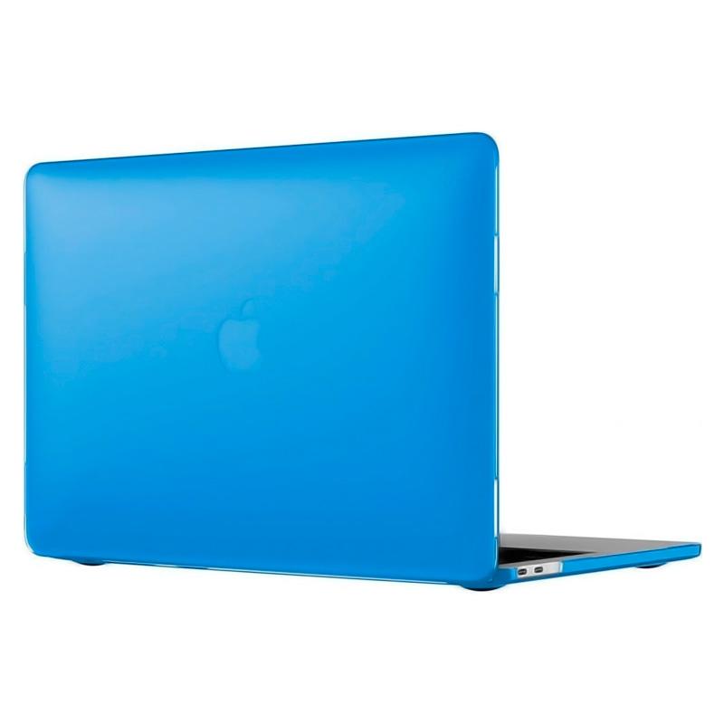 """Чехол-накладка пластик глянцевый для MacBook Pro 13"""" прозрачно-синий"""