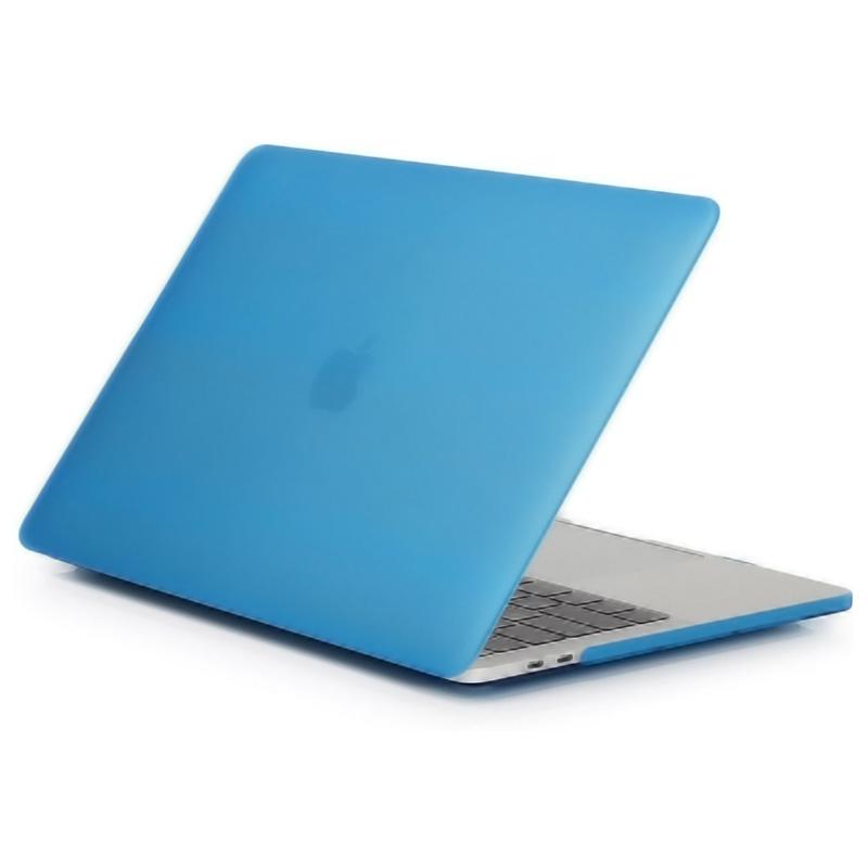 "Чехол-накладка пластик матовый для MacBook Pro 13"" прозрачно-синий"