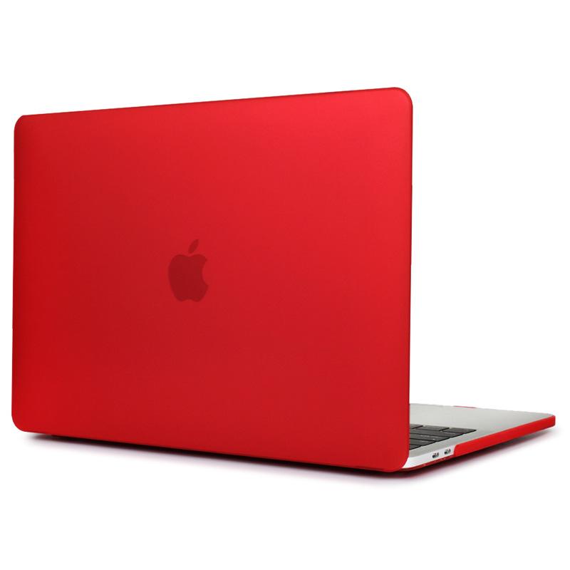 """Чехол-накладка пластик матовый для MacBook Pro 13"""" прозрачно-красный"""