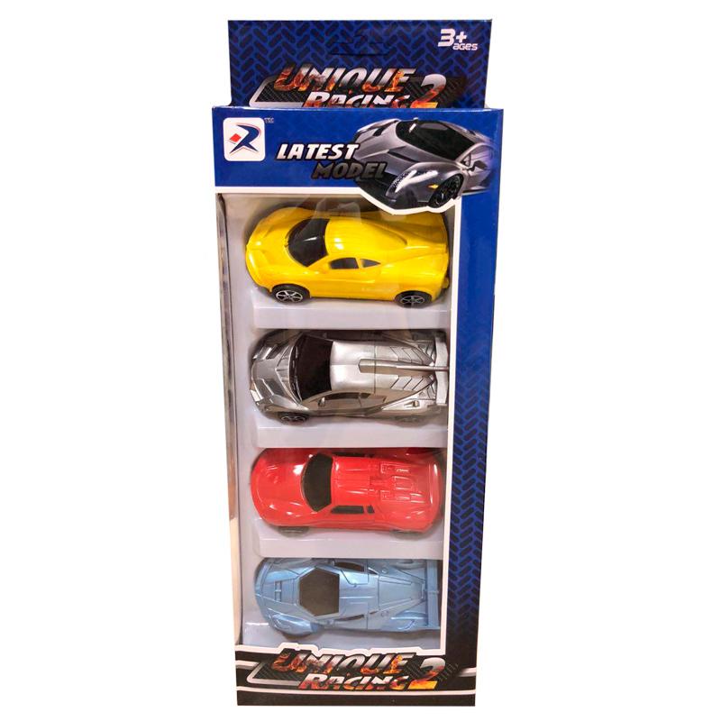 Набор инерционных машинок Unique Racing 2 (4 шт)