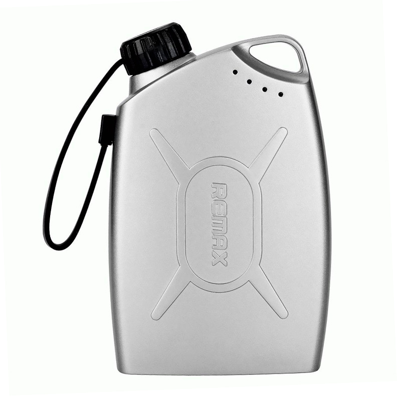 Внешний аккумулятор Remax Oil Drum Power Bank 6000 mAh, серебряный