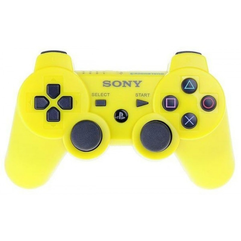 Игровой контроллер Dualshock 3 для PS3 желтый