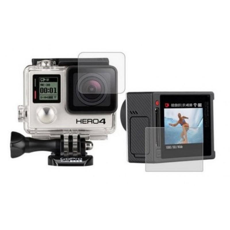 Пленки защитные для GoPro Hero 4 Silver edition комплект 2 штуки
