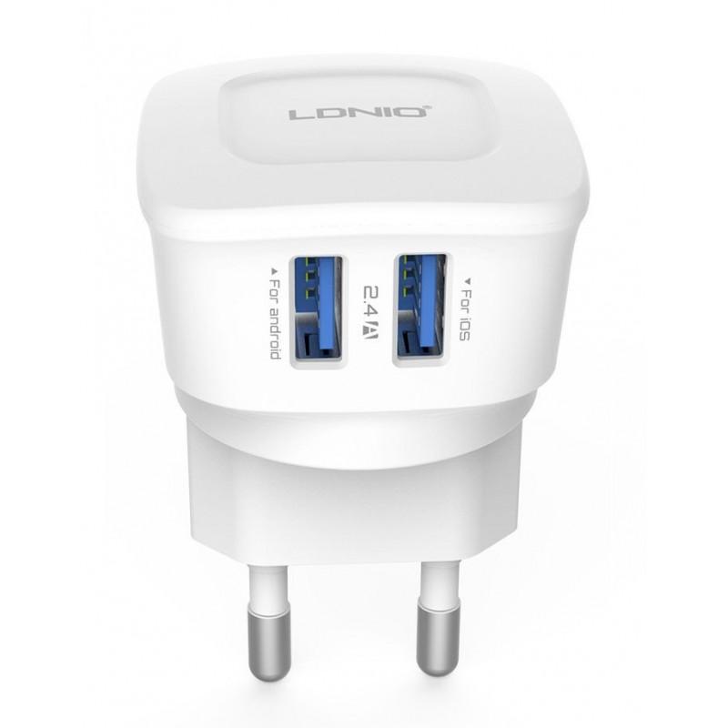 Зарядное устройство LDNIO DL-AC63 microUSB