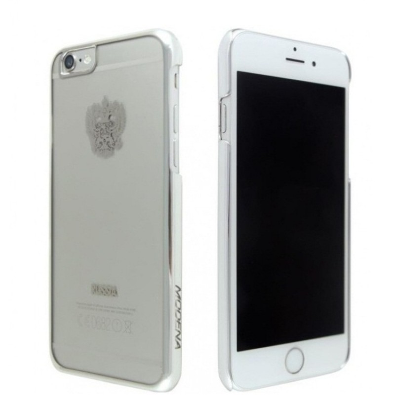 Чехол Modena с гербом России для iPhone 6/6s Серебряный