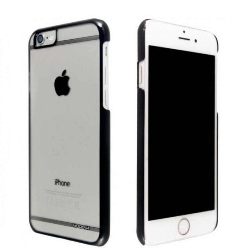 Чехол Modena с яблоком для iPhone 6/6s Черный