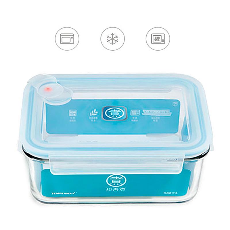 Контейнер пищевой стеклянный Xiaomi Anti-Drop Glass Crisper 715мл