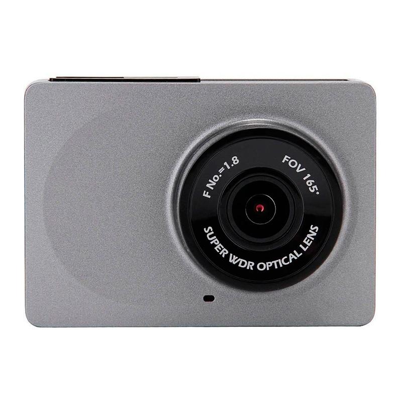 Видеорегистратор автомобильный Xiaomi Yi WiFi DVR 130°, серый (EU international)