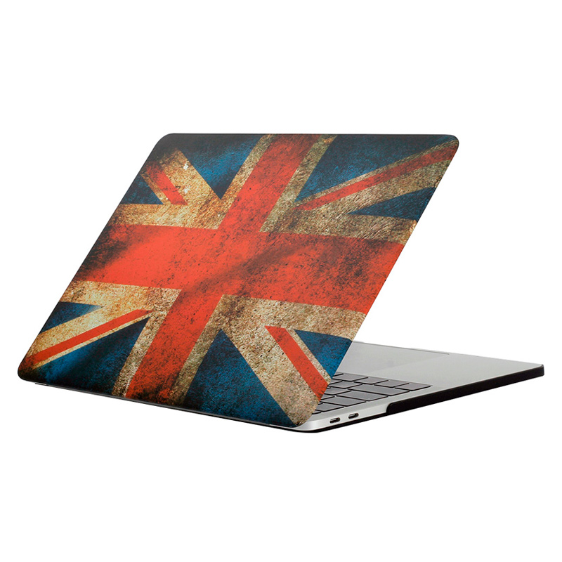 """Чехол-накладка пластиковый для MacBook Pro 13"""" Британский флаг"""