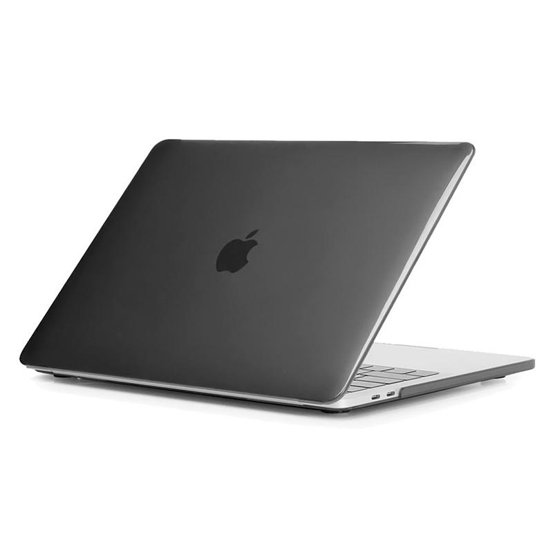 "Чехол-накладка пластик глянцевый для MacBook Pro 13"" прозрачно-серый"
