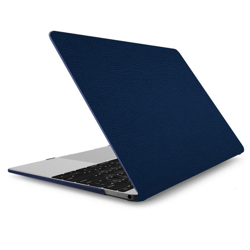 """Чехол-накладка кожаный для MacBook Pro 13"""" темно-синий"""