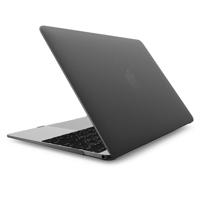 """Чехол-накладка пластик матовый для MacBook Pro 13"""" прозрачно-серый"""