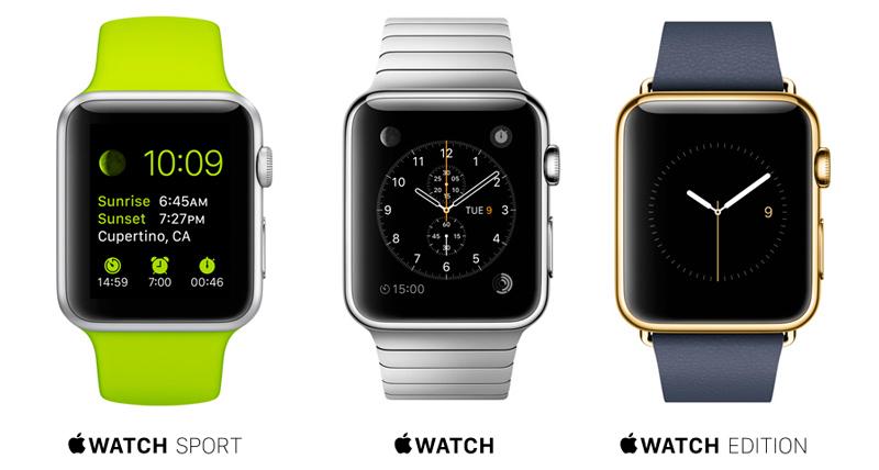Коллекция часов Apple - Watch Sport и Watch Edition