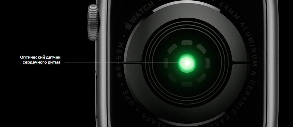 Apple Watch series 4 датчик сердечного ритма