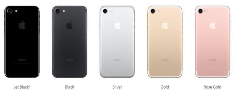Модельный ряд Apple iPhone 7
