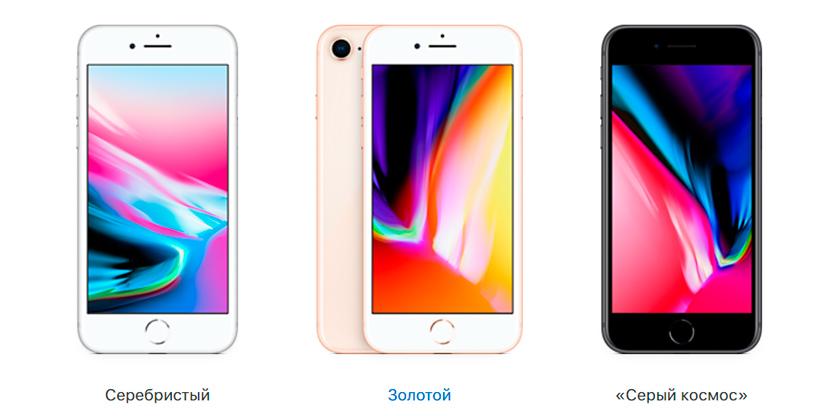 Модели и цвета iPhone 8