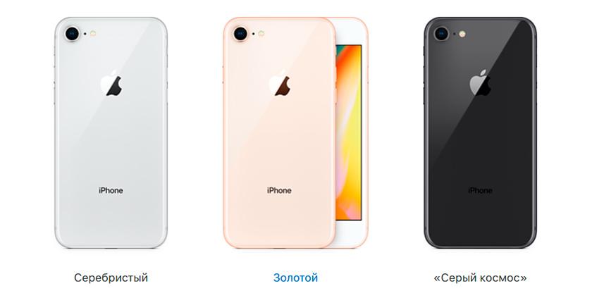 Цвет iPhone 8