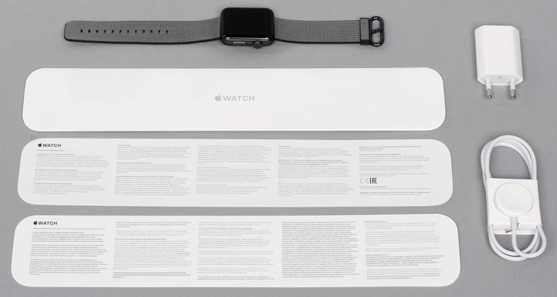 Зарядка, кабель и инструкция в комплекте iWatch 2